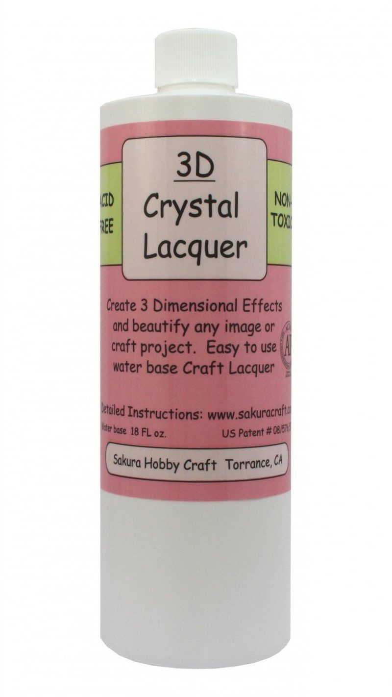 18oz REFILL Bottle Sakura Hobby 3D Crystal Clear Acrylic Lacquer 01818 crafts