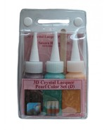 Sakura Hobby Craft 3DCL Pearl Color Lacquer 3 bottle Set E 03037 Red Pea... - $13.95