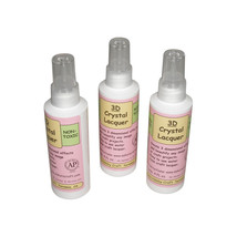 3 Bottles Sakura Hobby 3D Crystal Clear Acrylic Lacquer 4oz 01844 craft ... - $21.04