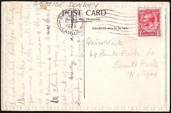 SEASIDE DONKEY RIDE Rppc vintage Very unusual used embossed frame Post Card