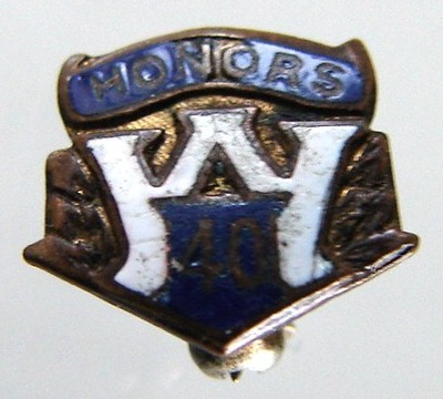 Primary image for VINTAGE ANONYMOUS ENAMEL BADGE LAPEL PIN # 102
