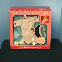 Vintage Fisher Price My Friend Doll #220 Springtime Tennis Outfit New in Box! - $26.99