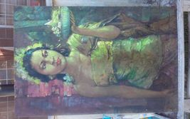Authentic unknown-artist oil-painting For Interior Home Wall - $8,780.00
