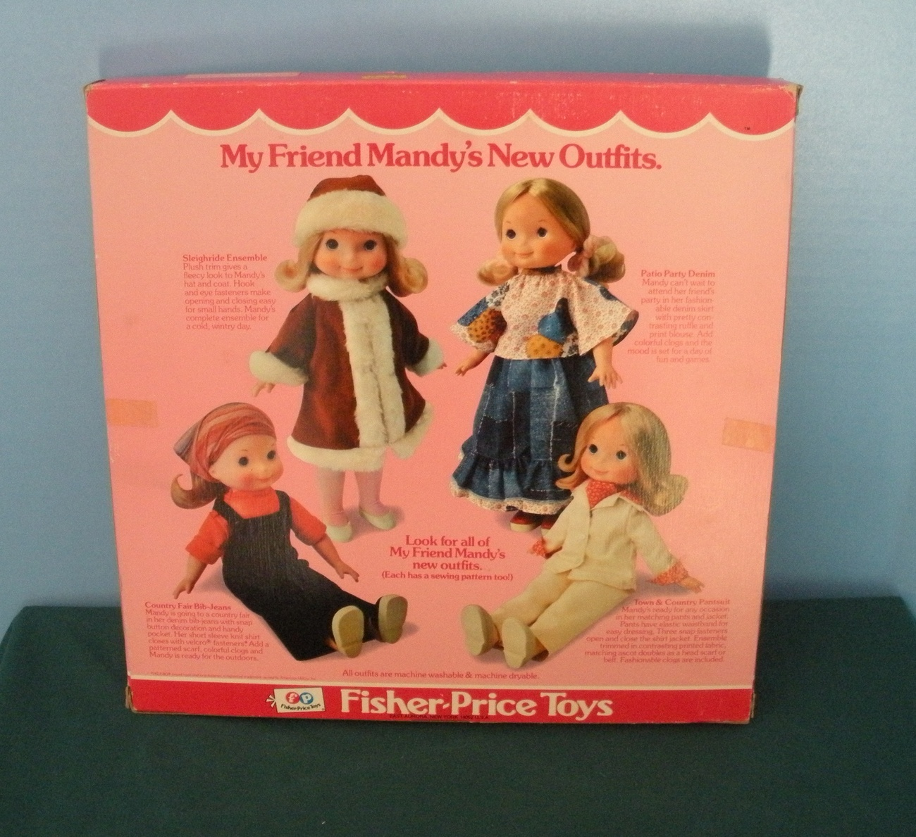 Vintage Fisher Price My Friend Doll #220 Springtime Tennis Outfit New in Box!