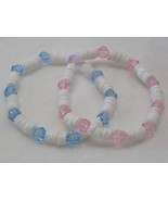 2 Shell Beaded Stretch Bracelets with Fun Accents - $3.00