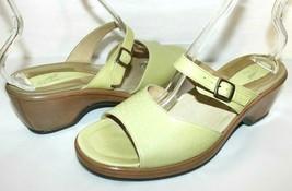 ❤️ DANSKO Green Premium Leather Slide Clog Sandals 11 42 Portugal GREAT!... - $23.74