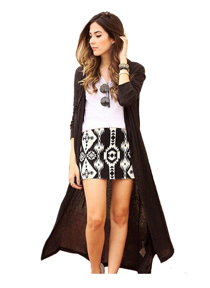 Primary image for kn59 Celeb Style Waterfall Open Front Light Cotton Long Drape Cardigan Wrap