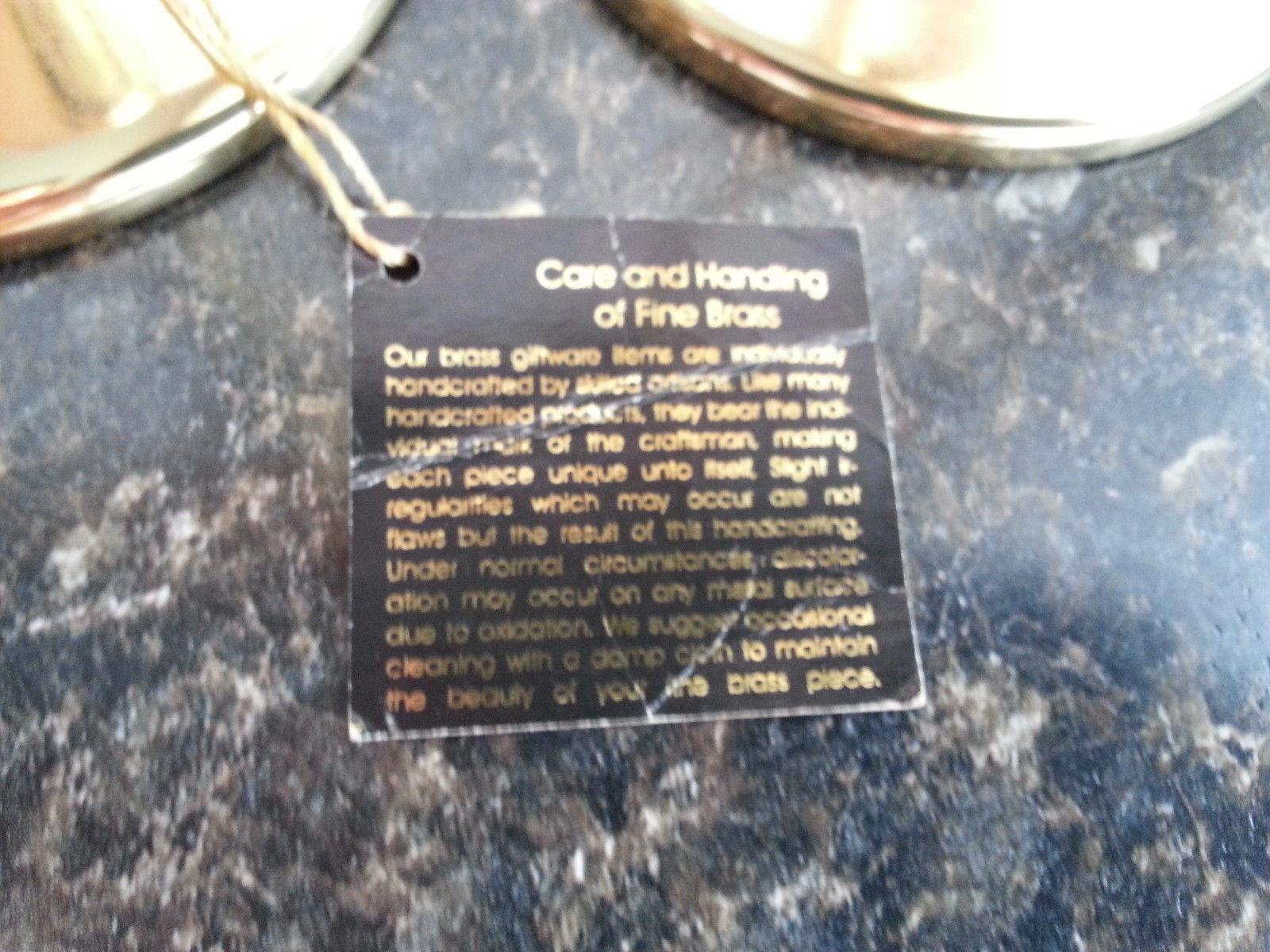 """Brass & Lucite Glass Candlesticks  5"""" 7"""" 9"""" H  Partylite #P9258 Richmond Trio"""