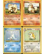 Four Pokemon Trading Cards - Base Set 2 - 33 & 42 & 58 & 61 of /130 - Ne... - $5.34