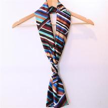 Women Lady Double Layer Chiffon Scarf Vintage Style Printing Long Elegan... - $14.99