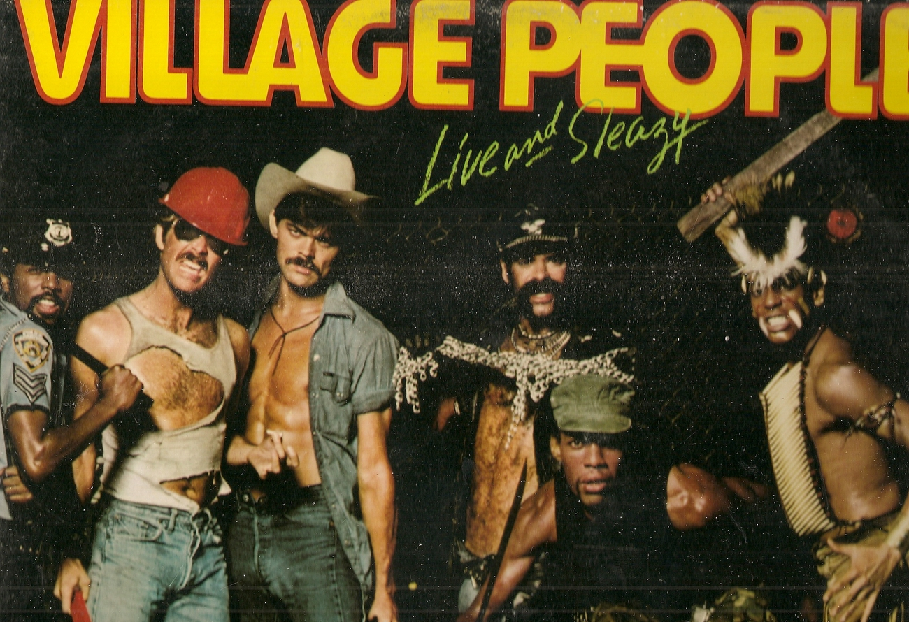 LP---VILLAGE PEOPLE LIVE AND SLEAZY