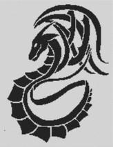 Tribal Dragon monochrome cross stitch chart White Willow stitching - $7.65