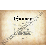 Gunner Hidden Within Your Name Is A Special Sto... - $8.95