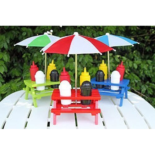 Backyard Umbrella Condiment Set, Colors vary New  Other