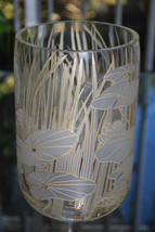 Rosenthal Etched and Gilded Vase with Lotus Garden and Pond Grasses - $80.00