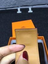 Authentic Hermes Camel Beige CDC Collier De Chien Leather Gold Bracelet Cuff PM image 5