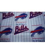Buffalo Bills Cotton Vintage Logo Fabric FQ 18 x 22 - $3.50