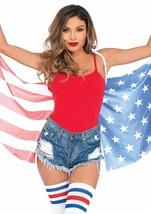 Leg Avenue Stars & Rayas Alas Bandera Eeuu Mujer Disfraz Halloween A2797 - $15.77
