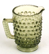 Fenton Miniature Green Hobnail Glass Pitcher - $6.50