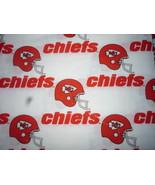 Kansas City Chiefs Cotton Fabric FQ 18 x 29 Vintage - $3.00