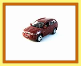 BMW X5 ,BORDEAUX MAISTO 1/42 DIECAST CAR COLLECTOR'S MODEL , COLLECTIBLE... - $26.90