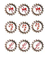 Candy Cane Bottlecap -Download-ClipArt-ArtClip-Bottle Cap-Digital - $4.00