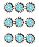 Snowflake Bottlecap -Download-ClipArt-ArtClip-Bottle Cap-Digital - $4.00