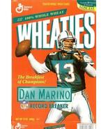 dan marino wheaties cereal box miami dolphins nfl football record breaker - $9.99