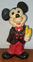 "Vintage 70s Ceramic Mickey Mouse yellow hat bowtie Walt Disney Prod 9"" - $29.69"