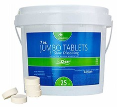 Rx Clear 3-Inch Stabilized Chlorine Tablets | One 25-Pound Bucket | Use ... - $97.60