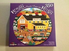 Vintage Cars Sweet and Sticky Honey Farms Round Jigsaw Puzzle 350 Pcs Ne... - $8.91