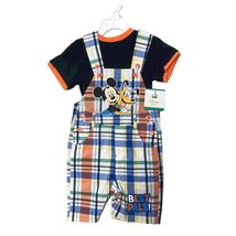 DISNEY BABY JUMPERS 2 PIECES SET 12-24 MONTHS (12 MONTHS, MICKEY CHECKS) - $18.61