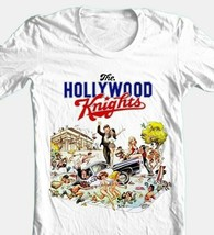 Hollywood Knights T-shirt retro 1980s 1970s movie cotton white graphic tee image 1