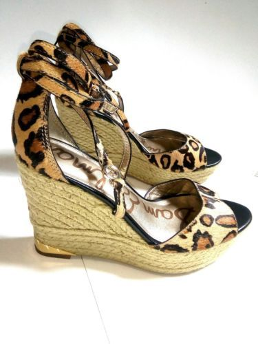 4bdac5ae258 Sam Edelman Cheetah Turner Espadrille Wedge 6 Sam t