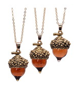 acorn top pendant antique bronze silver gold color water drop glass acorn oak pendant thumbtall