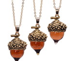 Rn top pendant antique bronze silver gold color water drop glass acorn oak pendant thumb155 crop