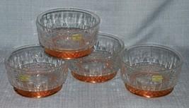 "Arcoroc CopperCraft Guild- Diamant Salad /dessert Bowls- 5"" Copper Bases-NWT image 1"