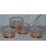 """Arcoroc CopperCraft Guild- Diamant Salad /dessert Bowls- 5"""" Copper Bases... - $15.95"""