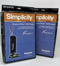 New Simplicity Hi Flow Hepa Bags Type F Freedom #SFH-6. 6 Pack Bags + 4 Opened - $37.61