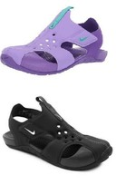 NEW 943826 001 NIKE SUNRAY PROTECT 2 (PS) SANDALS !! BLACK/WHITE !! - $29.63