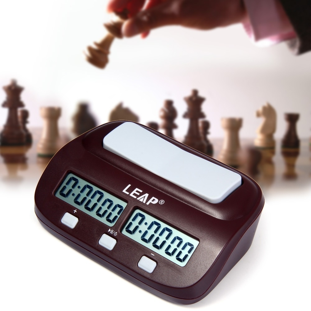LEAP PQ9907S Digital Chess Clock I-go Count Up Down Timer-Wine Red