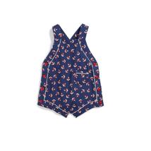 Ralph Lauren Baby Girls Anchor Print Shortall, 9 Months, Navy Multi - $30.00