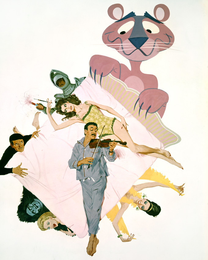 Peter Sellers and Claudia Cardinale and David Niven and Capucine in The Pink Pan - $69.99