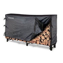 8' Heavy-Duty Steel Construction Log Rack Cover Easy Assembly Storage Or... - $94.04