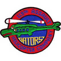 USAF 119th Aviation Assault Helicopter Company Patch Gators  2.75'' x 3-1/2'' - $13.85