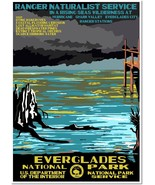 Everglades National Park Service Vintage Travel Art Deco Poster Reproduc... - $32.99+