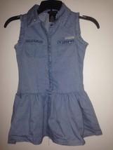 Calvin Klein Girls Dress sz 4T rhinestones blue beautiful - $24.74