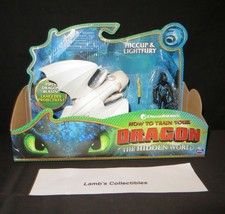 How to train your Dragon 3 The Hidden World Hiccup & Light fury dragon figures - $95.75