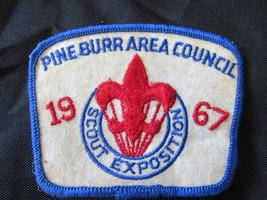 VINTAGE BOY SCOUT PATCH 1967 PINE BURR AREA COUNCIL SCOUT EXPOSITION - $9.95