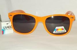 Way Cool Neon Orange Glare Blocking Polarized Sunglasses w Spring Hinges UV400 - $9.87